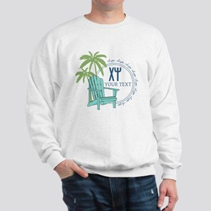 Chi Psi Palm Tree Personalized Sweatshirt